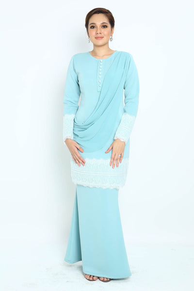 Baju Kurung Aster in Powder Green