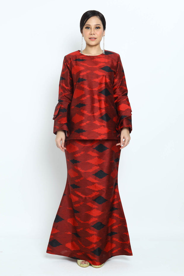 Baju Kurung Najwa in Red