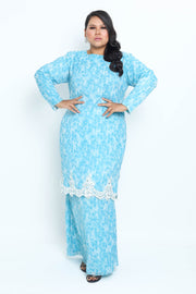 Baju Kurung Shafaa in Light Blue
