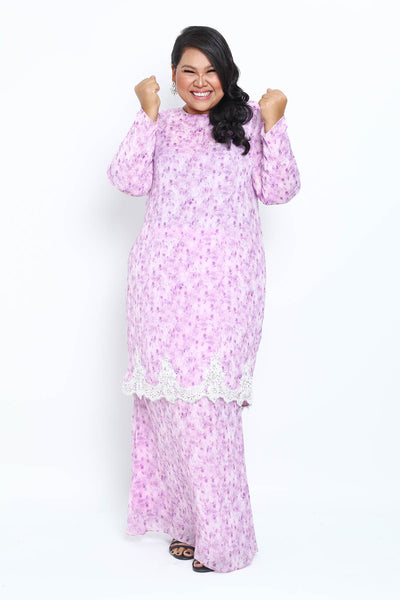Baju Kurung Shafaa in Light Purple