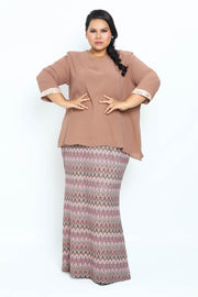 Baju Kurung Shihaa in Light Brown