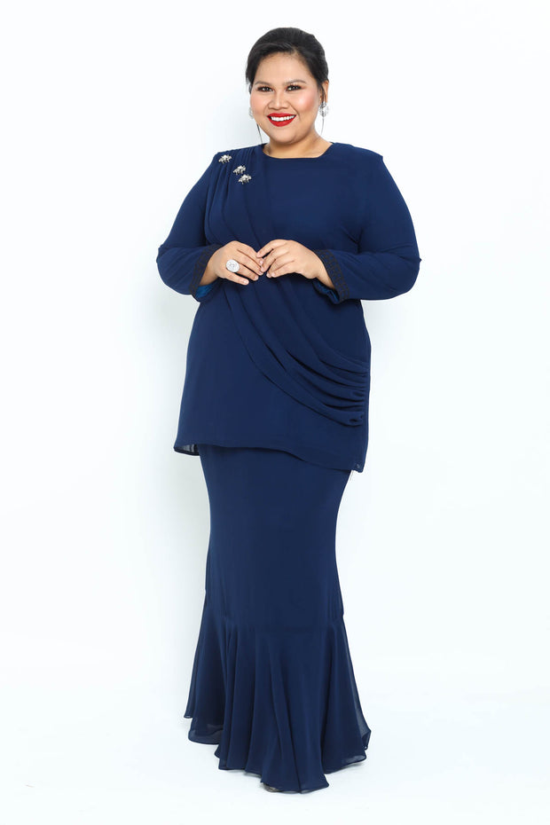 Baju Kurung Shanaa in Dark Blue
