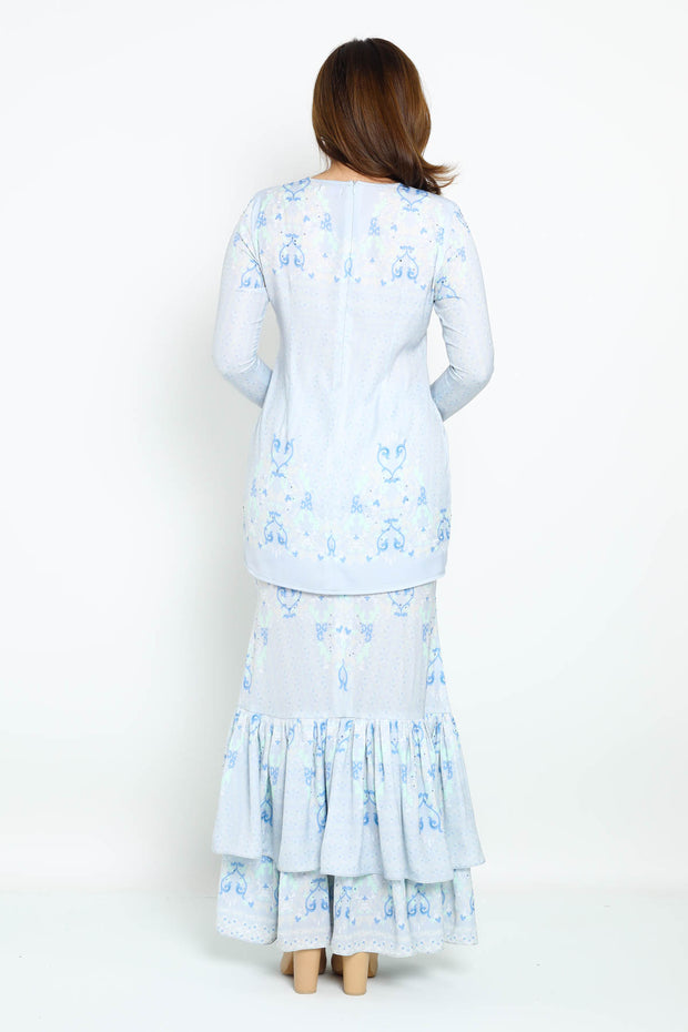 Baju Kurung Daisy in Light Blue