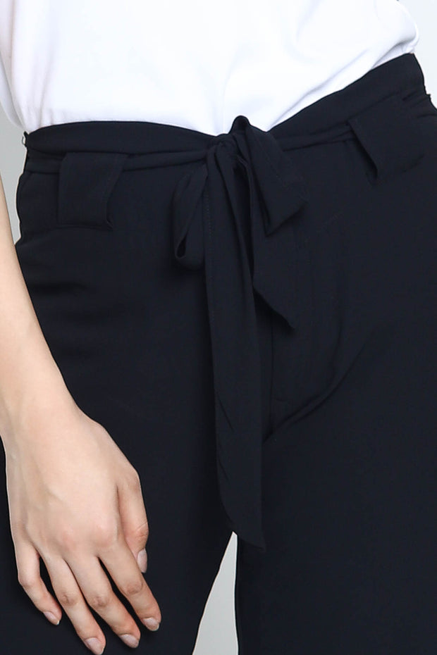 Poppy Tie Pants in Black