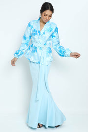 Baju Kurung Kaycee in Light Blue