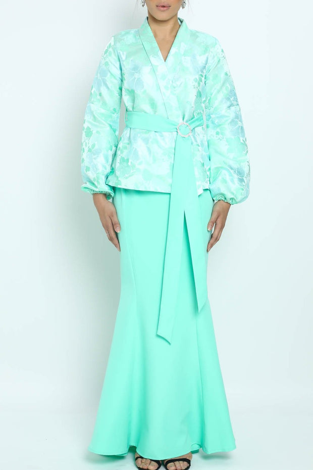 Baju Kurung Kaycee in Mint Green