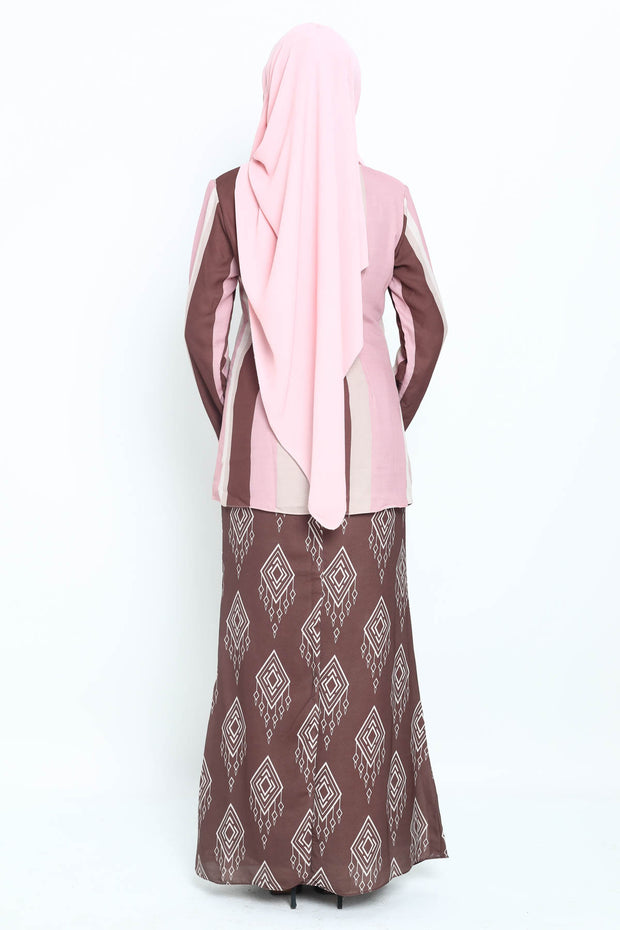 Baju Kurung Zaura in Dusty Pink