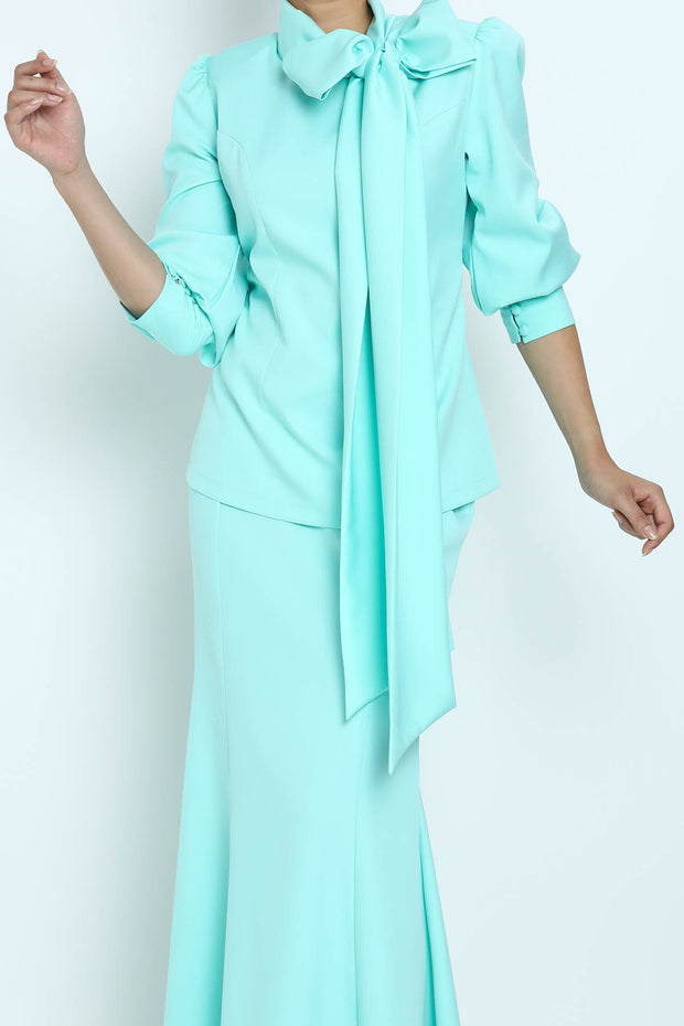 Baju Kurung Kleo in Mint Green