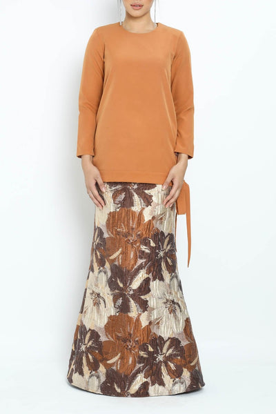 Baju Kurung Kaylaa in Brown