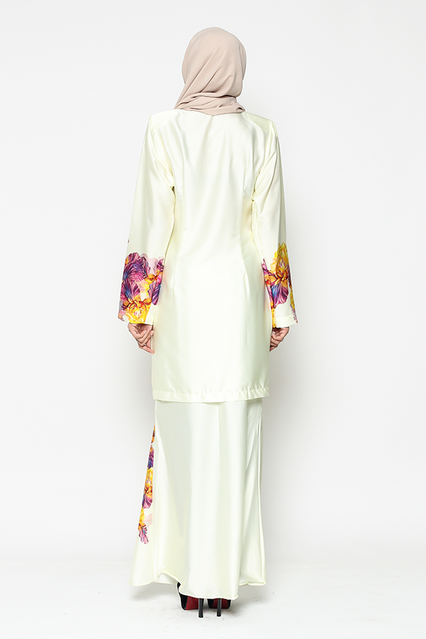 WH Kebaya Purple Bloom in Yellow