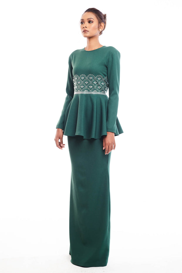 Rehan Peplum in Green