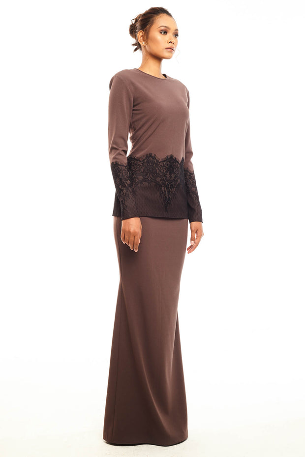 Baju Kurung Rose in Brown