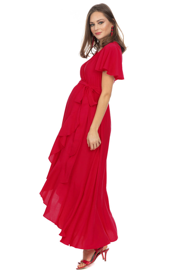 ROSE | Maternity Dress with Ruffles
