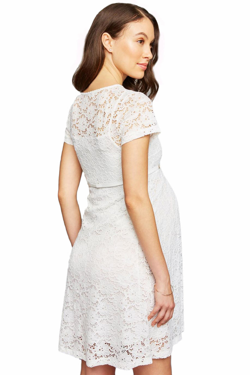 RODANO | Maternity Flared Dress with Lace