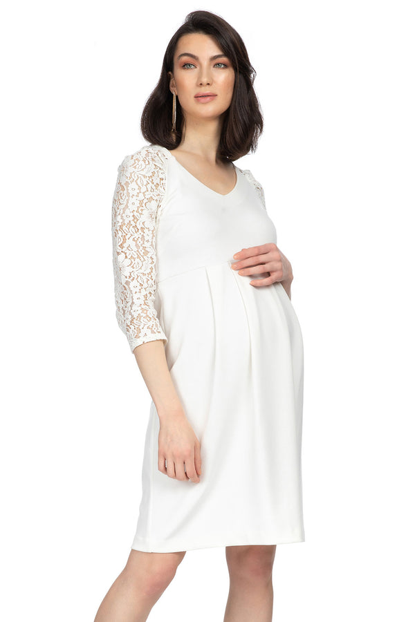 CENTRAL PARK | Maternity dress with lace sleeves