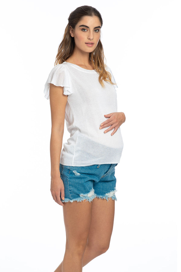 MINI SHORTS W020 | Maternity Shorts in Denim