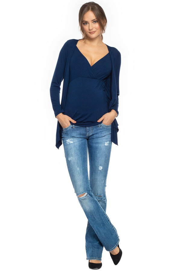 SLIM BOOTCUT W607 | Ripped Maternity Jeans