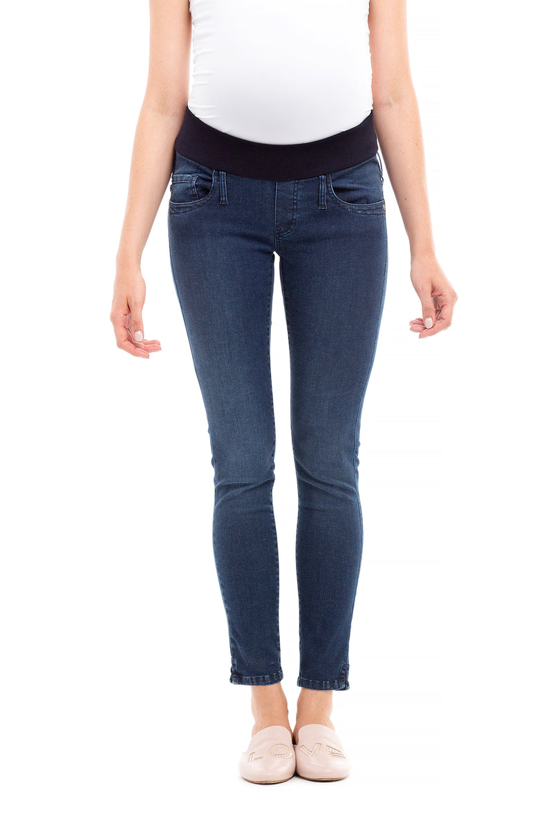 JEGGINGS DARK WASH | Jeans Premaman Aderenti W535