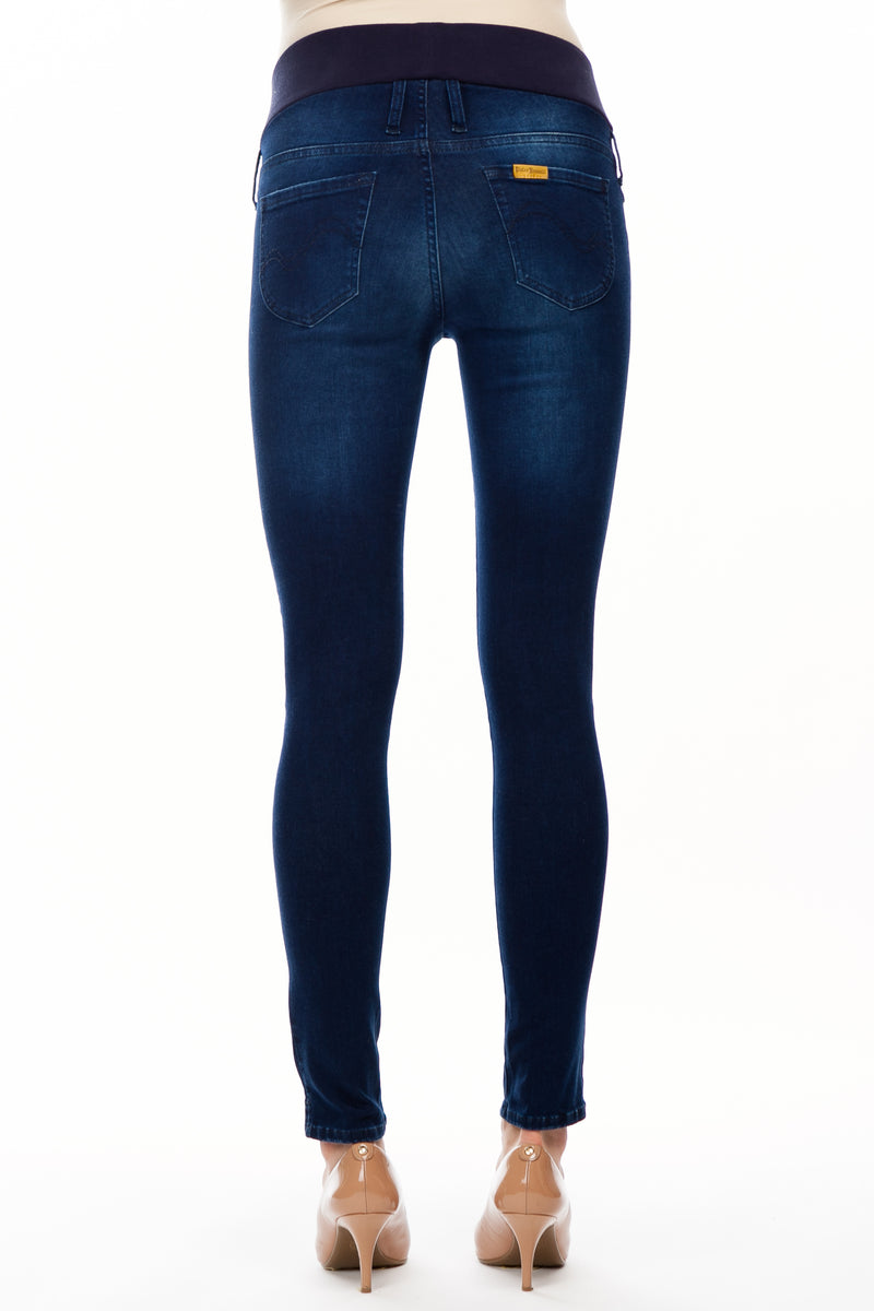 Jeggings Dark Wash W643 | Jeans Premaman lavaggio scuro