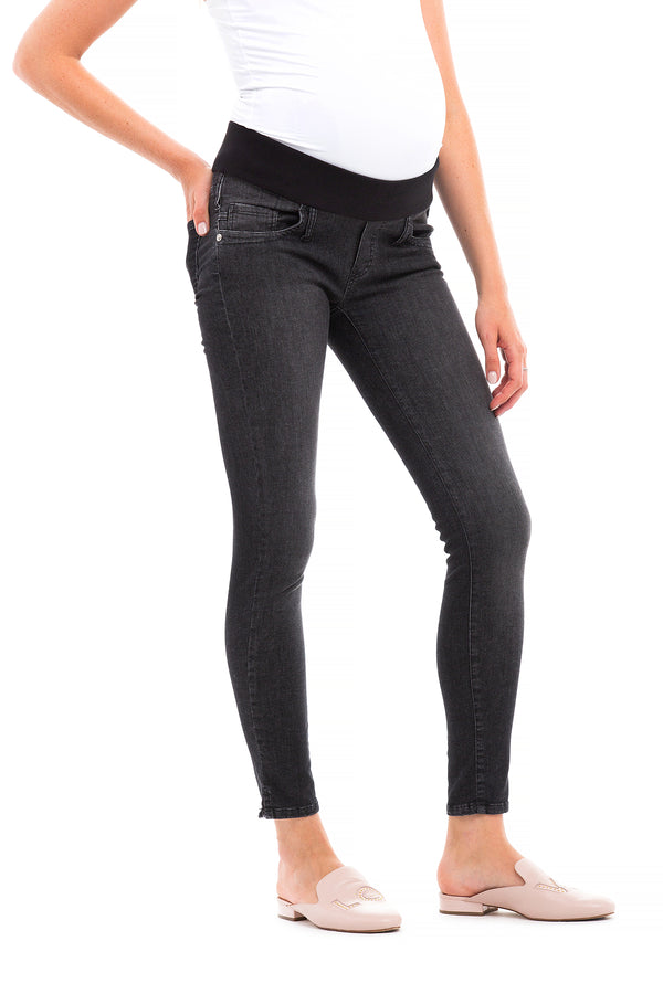 Jeggings Nero | Jeans Premaman aderenti in denim estivo