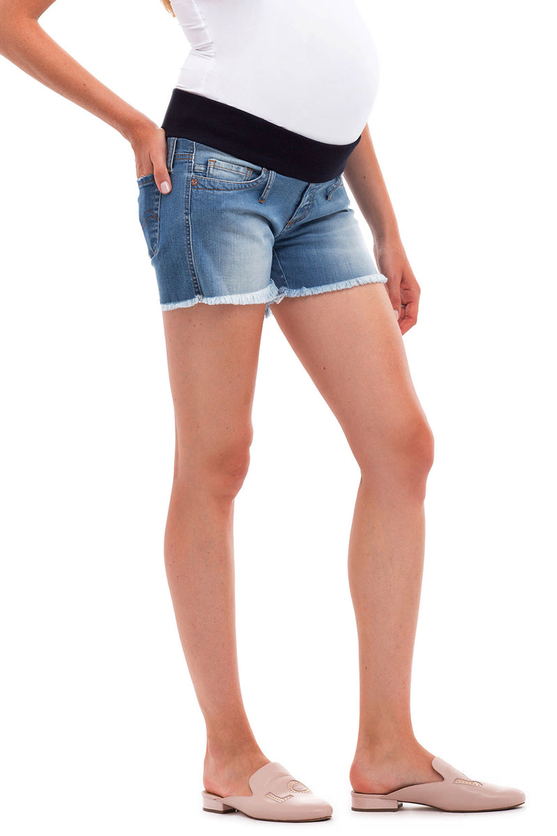 MINI SHORTS W581 | Maternity Shorts in Denim