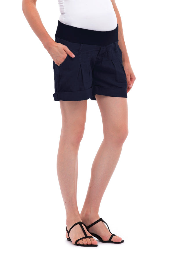 MINI LINEN SHORT | Maternity Shorts