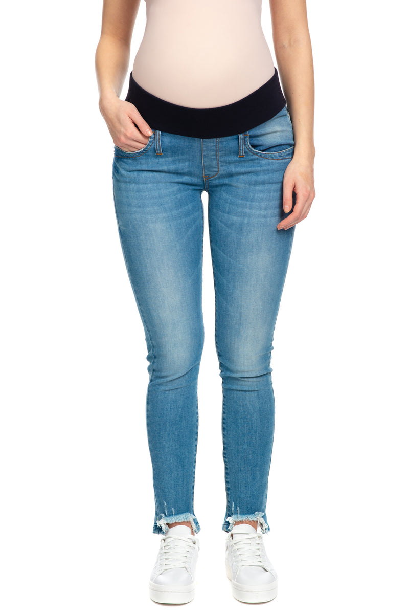 DEREK | Maternity jeans with frayed hem W552