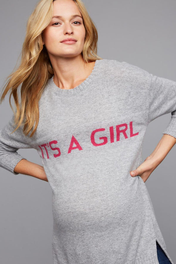 "Meribel | Maglia Premaman ""IT'S A GIRL"""