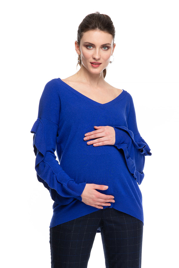 MARGE | Maternity Sweater with Volant
