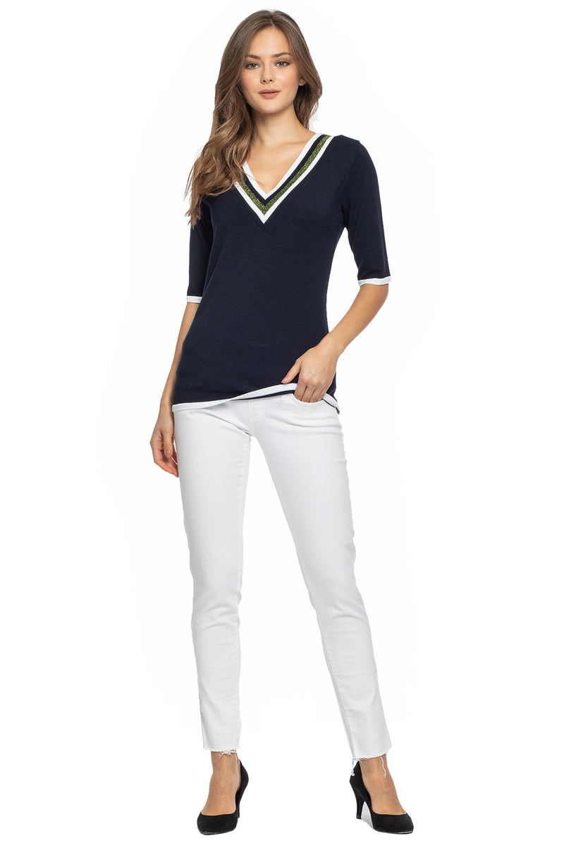 Jeggins Premaman aderenti in denim bianco super stretch