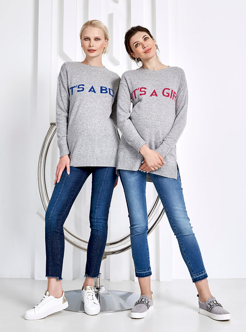 "MERIBEL | Maglia Premaman ""IT'S A BOY"""