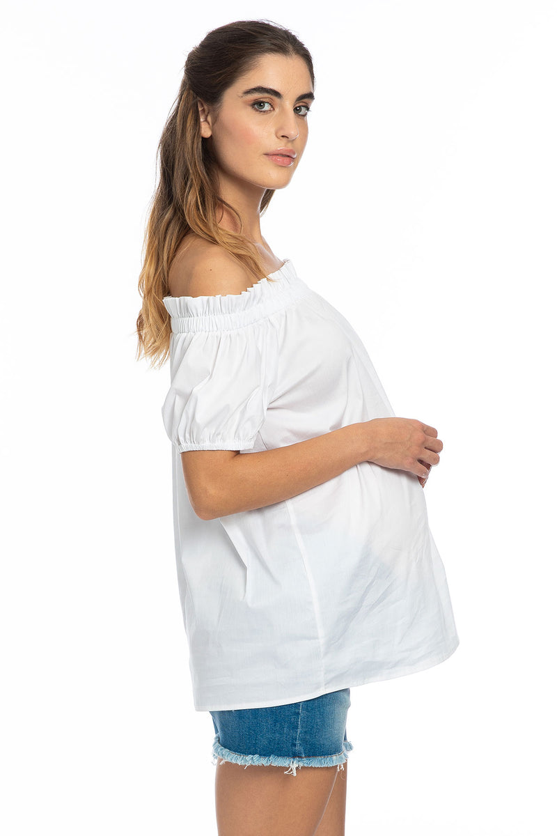 SUSY | Off-The-Shoulder Maternity Top