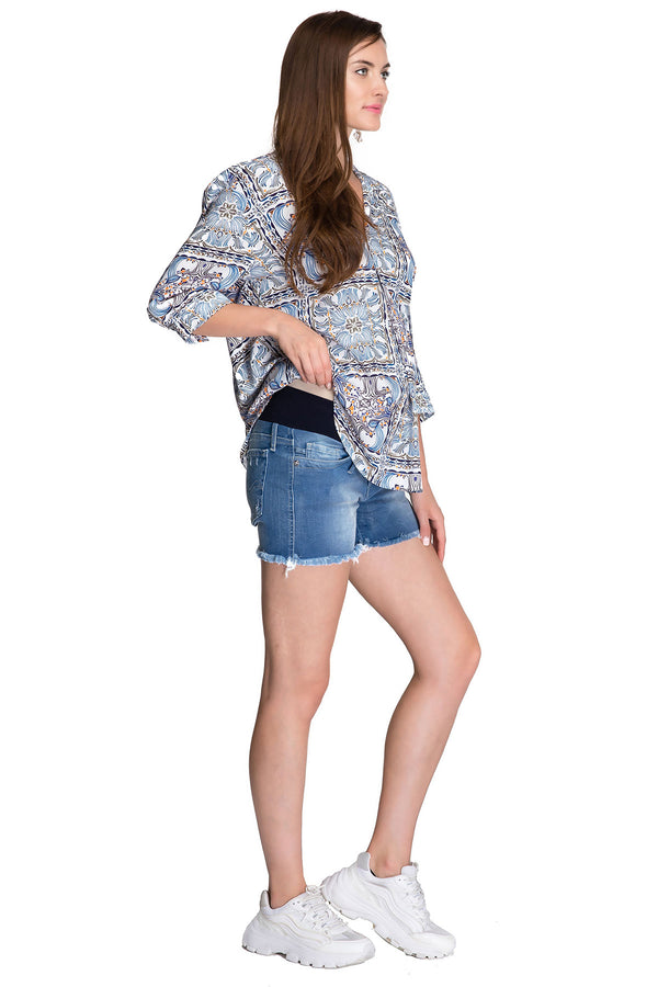 MINI SHORTS W022 | Maternity Shorts in Denim