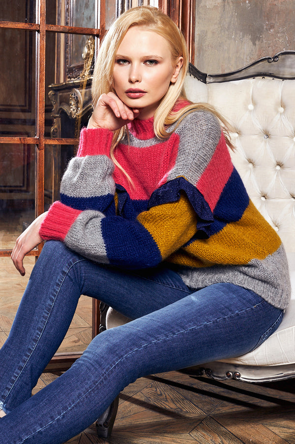 COURCHEVEL | Woman Sweater with ruffles