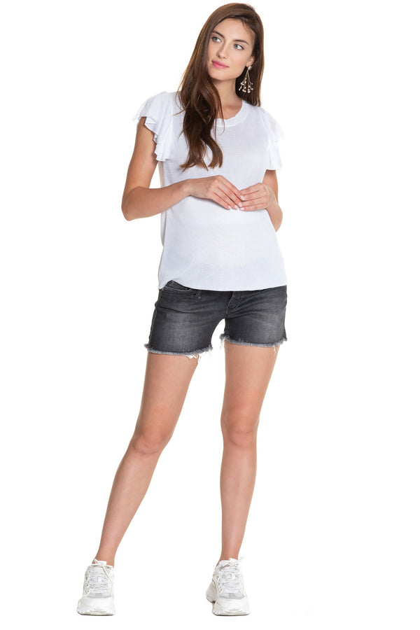 MINI SHORTS W997 | Maternity Shorts in Denim