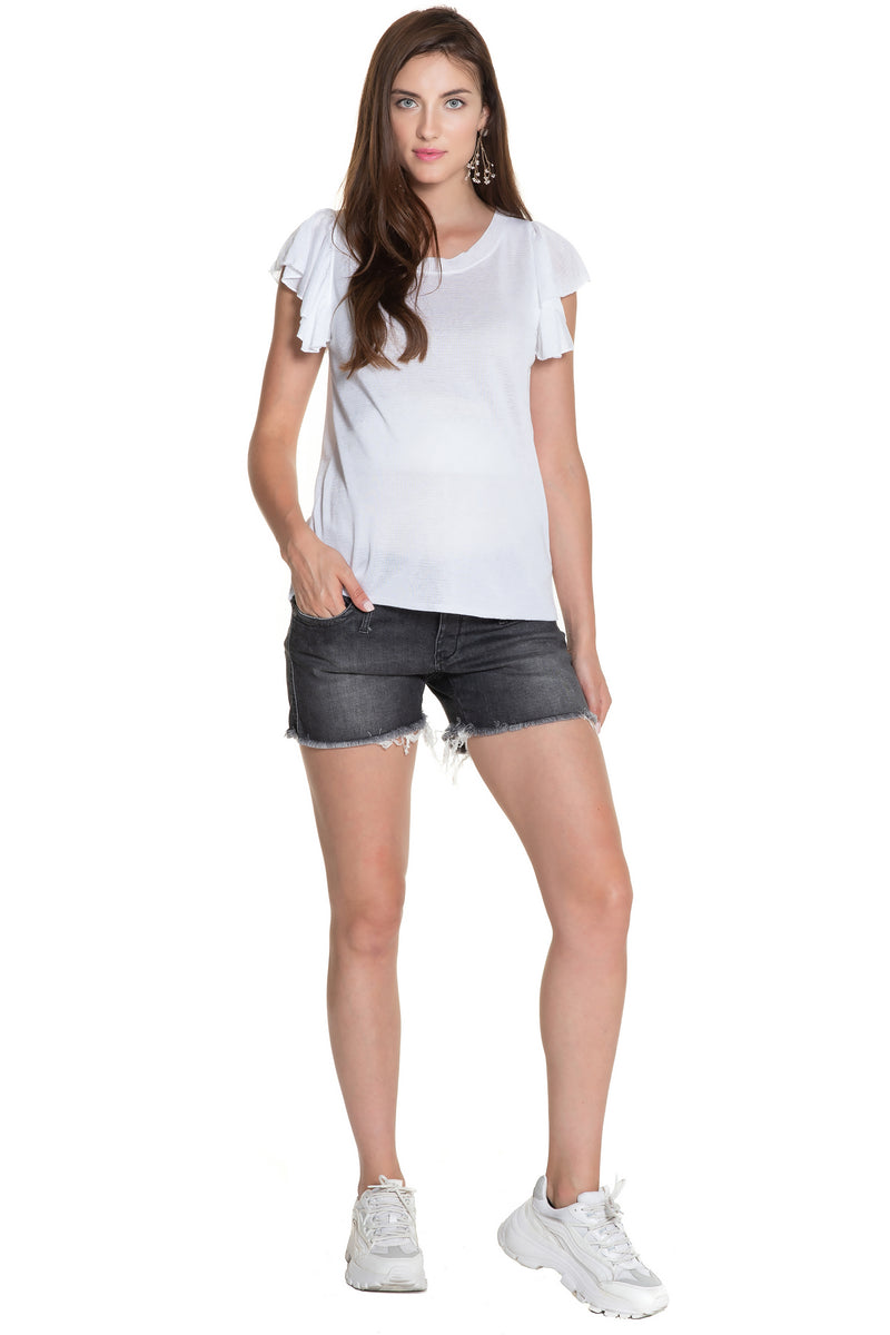 MINI SHORTS W997 | Pantaloncini Premaman in Denim