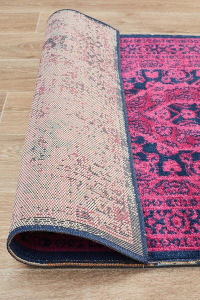 Rug Culture Eternal Whisper Vision Magenta Runner Rug