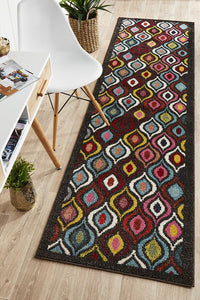 Gemini Modern 506 Multi Coloured Runner Rug