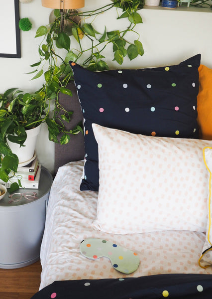 More Than Ever Spot and Dot Euro Pillow Cover
