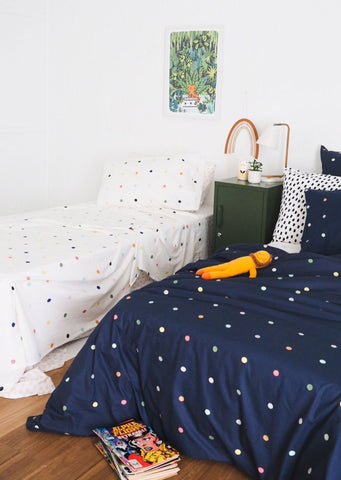 More than Ever Spot and Dot Single Flat Sheet
