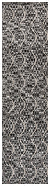 Rug Culture Terrace 5501 Black Runner Rug