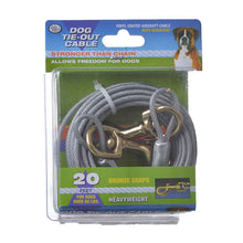 Load image into Gallery viewer, Four Paws Dog Tie Out Cable - Heavy Weight - Black