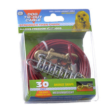Load image into Gallery viewer, Four Paws Dog Tie Out Cable - Medium Weight - Red