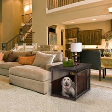 Load image into Gallery viewer, Richell End Table Wood Dog Crate