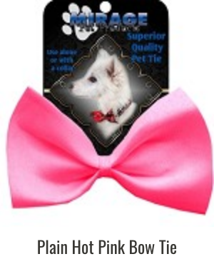 Classic Plain Dog Bow Ties