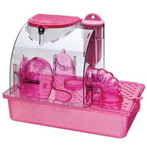 Pink Princess Hamster Cage