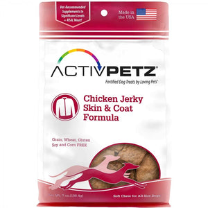 ActivPetz Chicken Jerky Skin & Coat Formula Dog Treats