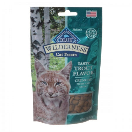 Blue Buffalo Wilderness Crunchy Cat Treats - Tasty Trout Flavor