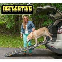 Load image into Gallery viewer, Travel Lite Tri-Fold Reflective Pet Ramp