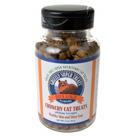 Grizzly Super Treats Crunchy Cat Treats with Omega-3